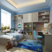 现代儿童房床头柜设计装修效果图