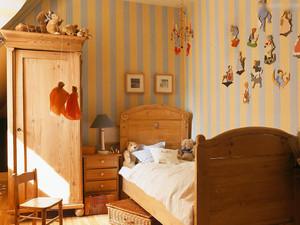 乡村风小型儿童房设计装修效果图