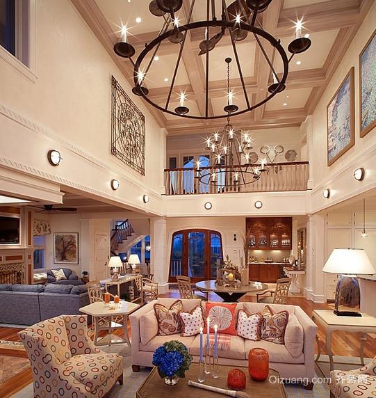 精美的欧式风格别墅型楼中楼装修效果图
