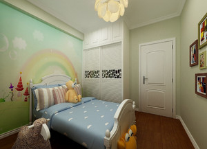 清新14平米小儿童房设计装修效果图