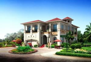 2016精美的现代农村别墅外观设计效果图