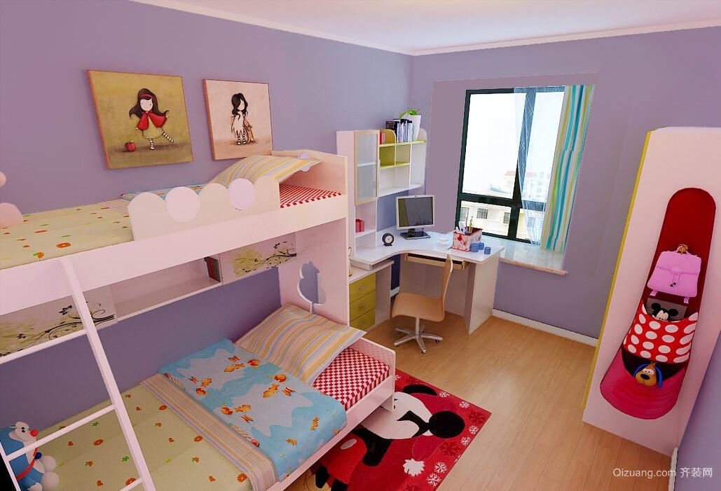 超梦幻的现代儿童房设计装修效果图