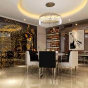 完美室内现代欧式风格家居餐厅装修效果图