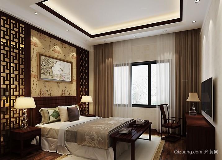 73平米两居室中式风格卧室装修效果图