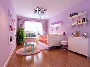 韩式风格紫色儿童房设计装修效果图