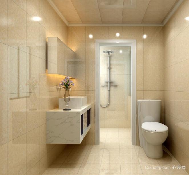 时尚的小户型简欧风格卫生间装修效果图