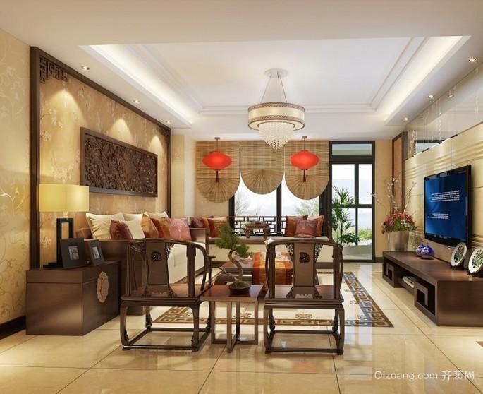 温馨舒适的东南亚风格客厅装修效果图