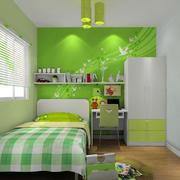 小户型清新绿色儿童房设计装修效果图