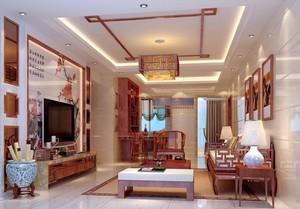 清雅中式风格两室一厅客厅装修效果图