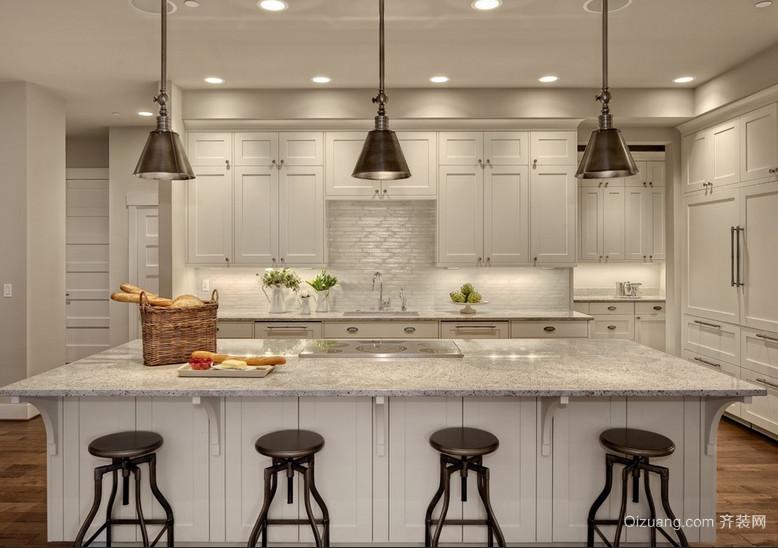 2016别墅现代都市开放式厨房装修效果图