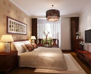 2016文雅中式风格小卧室装修效果图