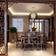 内敛大气的中式风格家居餐厅装修效果图