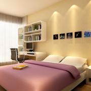 现代简约大户型卧室背景墙装修效果图