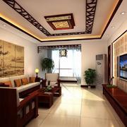 古典中式韵味小户型客厅装修效果图