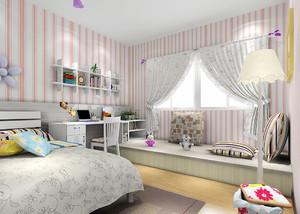 大户型韩式儿童房榻榻米设计装修效果图