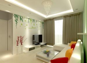 现代客厅室内石膏板吊顶装修效果图实例