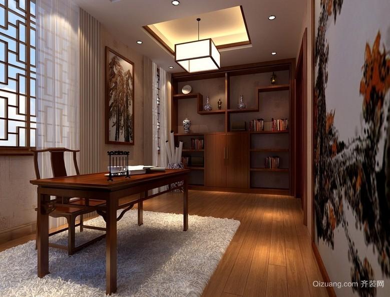 传统中式风格6平米小书房装修效果图