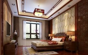 2016三室一厅中式风格卧室装修效果图