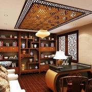 古典中式风格9平米书房装修效果图