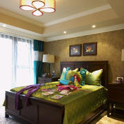 三居室美式风格儿童房设计装修效果图