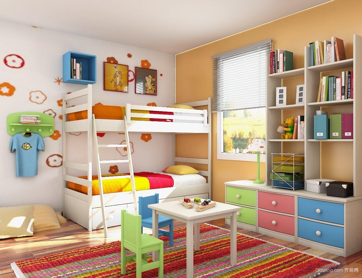 彩色靓丽的小型儿童房设计装修效果图