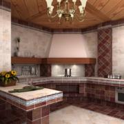 高贵典雅的别墅型欧式橱柜装修效果图