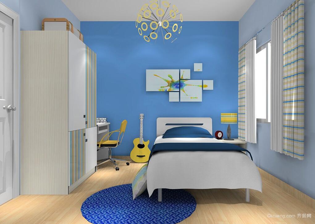 轻快两居室家居儿童房设计装修效果图