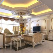大户型精美的现代欧式客厅装修效果图
