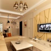 2016现代欧式大户型客厅装修效果图鉴赏