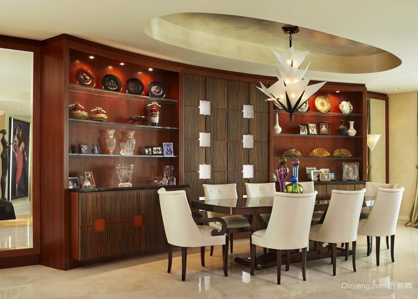 别墅型现代欧式实木酒柜装修效果图实例