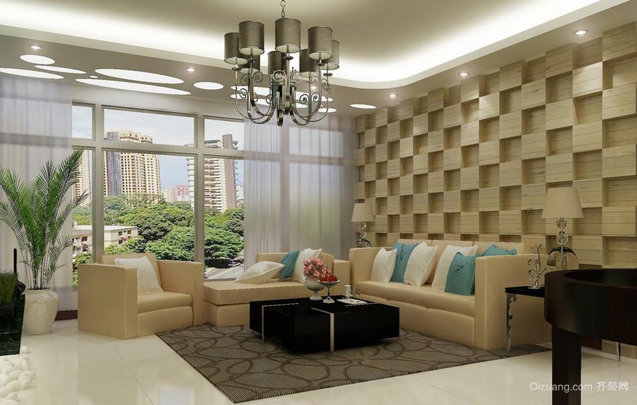 2016现代欧式室内沙发背景墙装修效果图