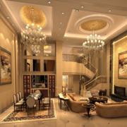 100平米精致的欧式客厅室内装修效果图欣赏