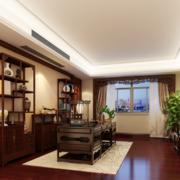 90平米大户型精致中式书房装修效果图