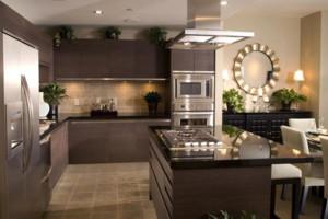 100平米大户型开放式厨房装修效果图鉴赏