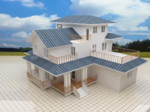 2016精美的农村房屋别墅外观设计效果图