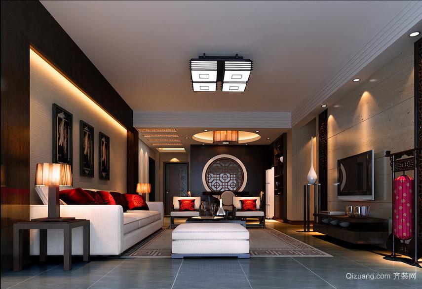 2016别墅型精致的中式室内装修效果图