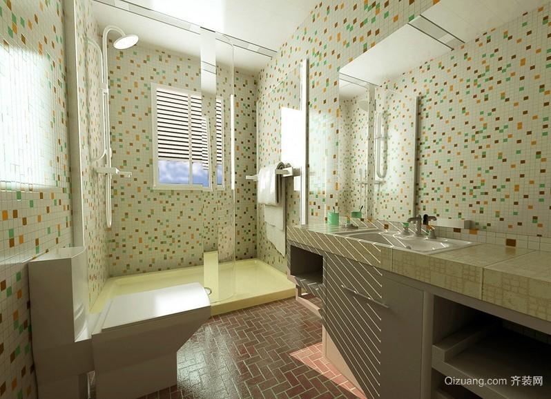 现代简约卫生间瓷砖装修设计效果图
