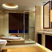 2016大户型现代卫生间装修设计效果图
