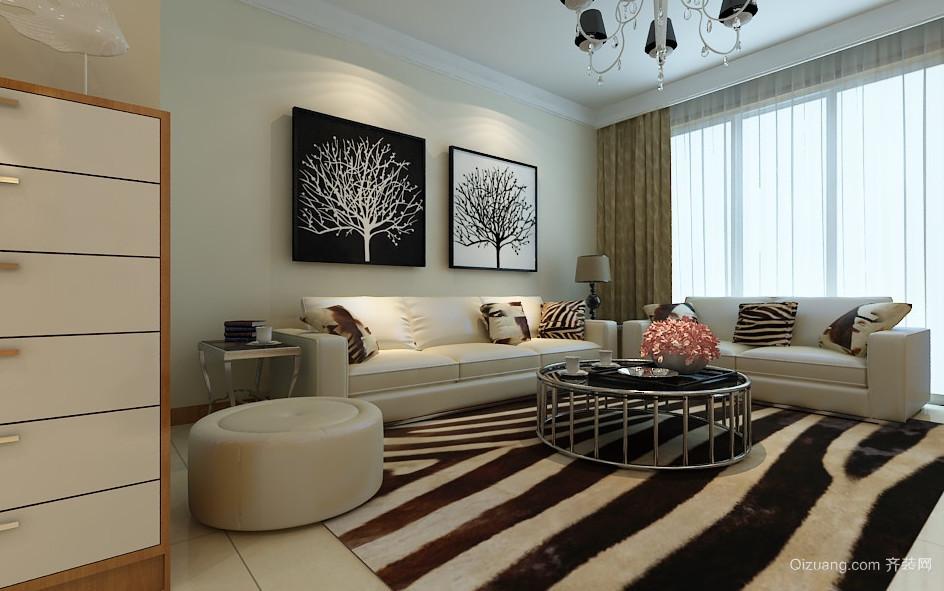 120平米大户型欧式风格客厅装修效果图