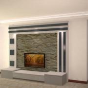 小户型欧式风格电视背景墙装修效果图实例