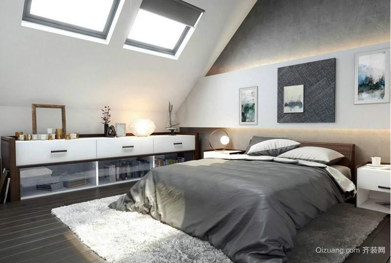 欧式风格阁楼卧室室内装修效果图鉴赏