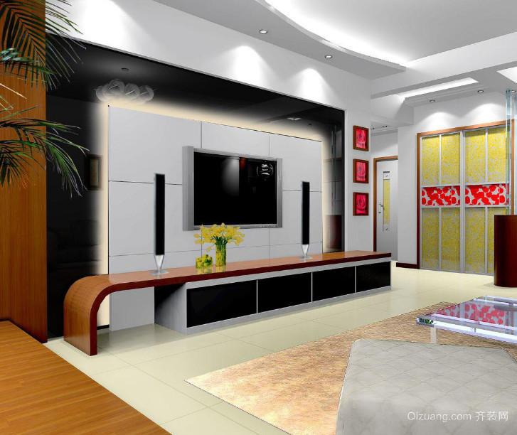 欧式风格大户型电视背景墙设计效果图鉴赏