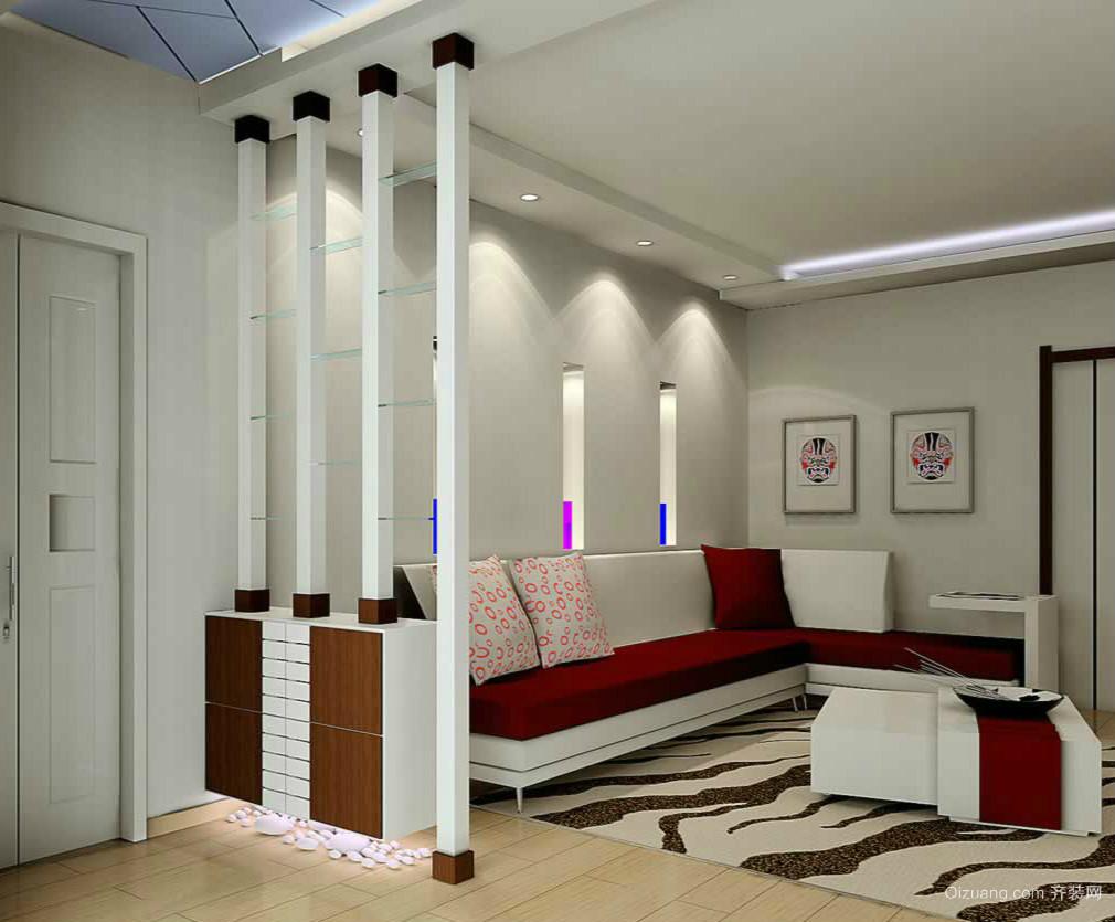 时尚56平米单身公寓玄关设计效果图