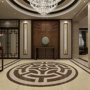 2016新中式大户型别墅玄关设计效果图