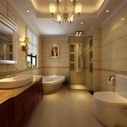 温馨橙色宜家卫生间装修设计效果图