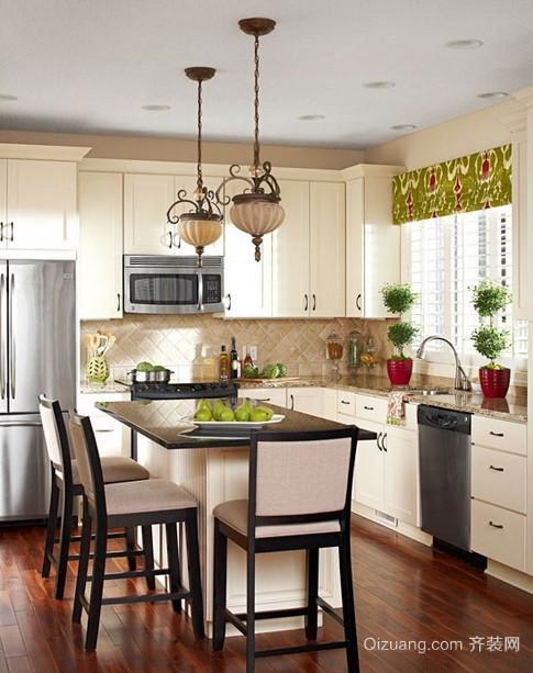 别墅欧式风格开放式厨房装修效果图鉴赏