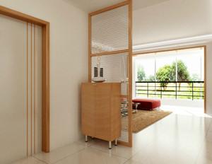 2016原木色小公寓玄关设计效果图