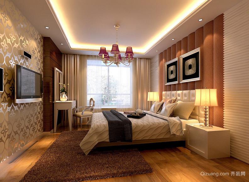 2016简欧风格单身公寓卧室装修效果图