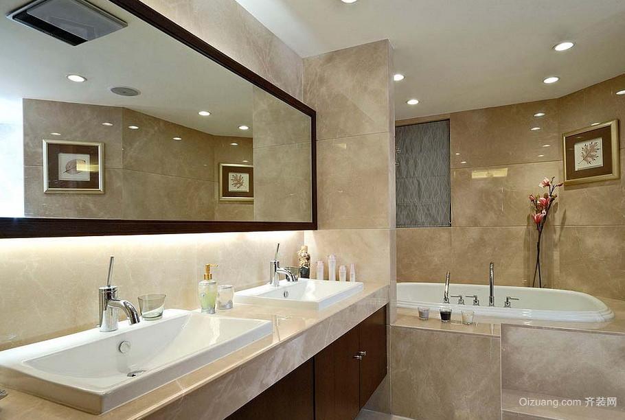 经典的别墅型现代浴室吊顶装修效果图