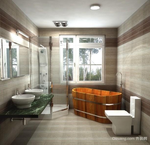 宜家实用的小卫生间装修设计效果图
